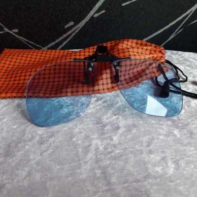 Clip lunettes bleu pour ordinateur