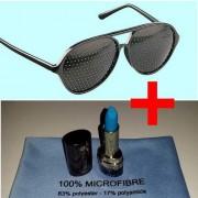 Lunettes à trous , 1 stick, 1 serviette microfibre